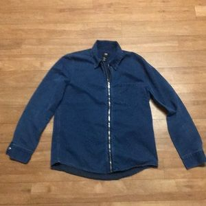 H&M denim jacket with zipper